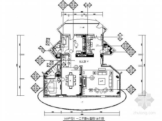 [海南]度假中心高档度假新中式复式装修施工图(含效果及手绘图)