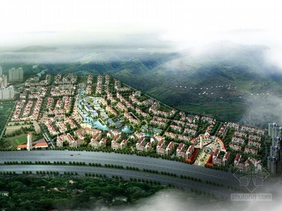 [广东]欧式风格住宅小区规划设计方案文本(含别墅、小高层等)