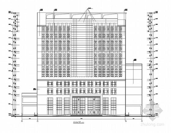 [贵州]12层框架结构办公楼结构图(含建筑图)
