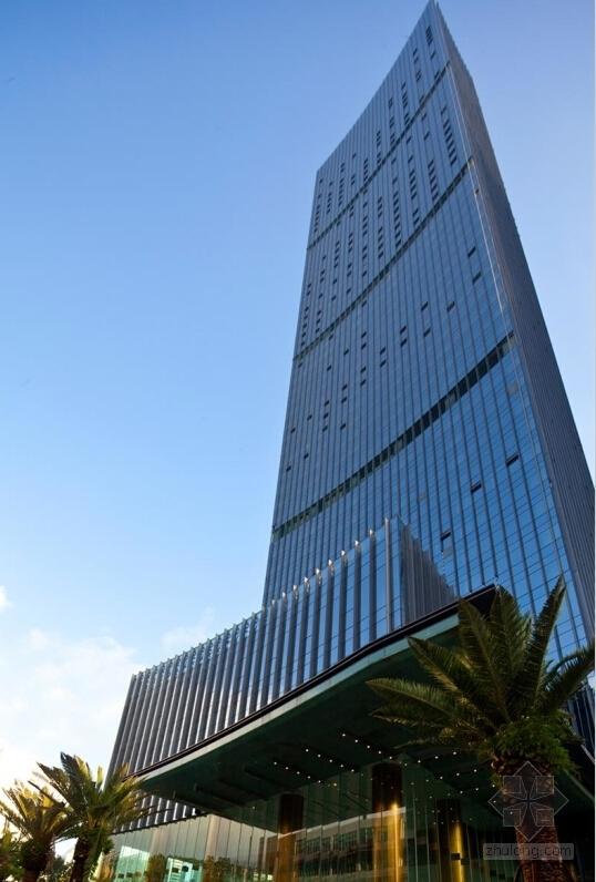 [深圳]56层玻璃幕墙办公大厦建筑设计施工图(含效果图知名设计院)-56层玻璃幕墙办公大厦建筑效果图