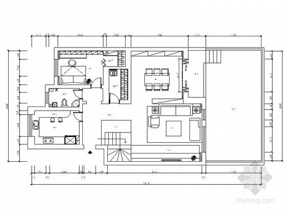 精品简约现代时尚复式样板间CAD装修施工图(含效果)