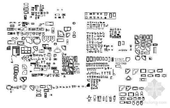 常用CAD图块-厕所类
