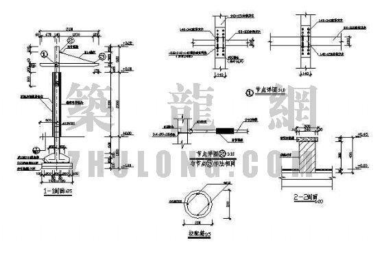 弧形花架施工图-4