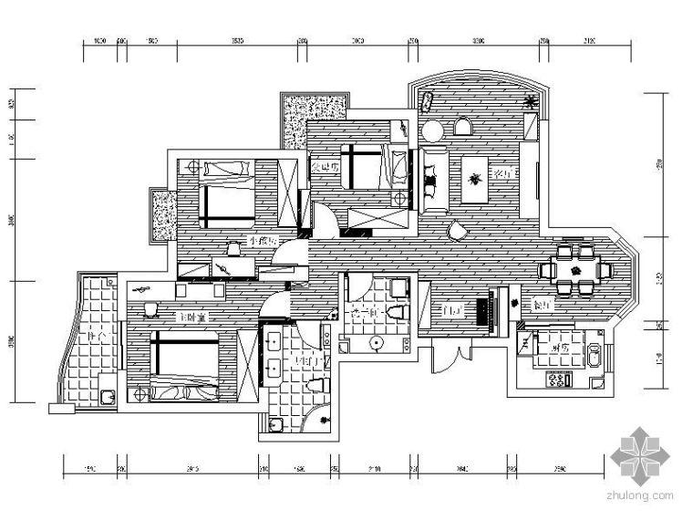 [宁波]简欧风格三室两厅装修图