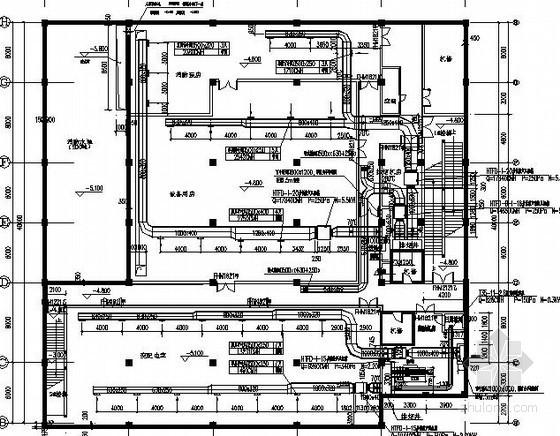 [浙江]大型商业广场通风排烟系统设计施工图