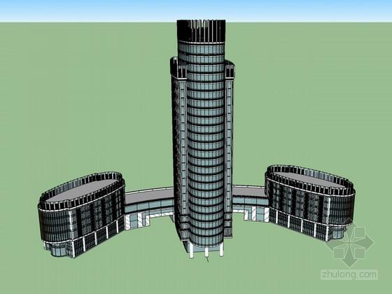 酒店建筑SketchUp模型下载