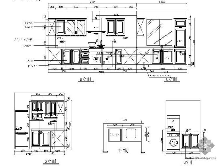 两套整体橱柜设计图