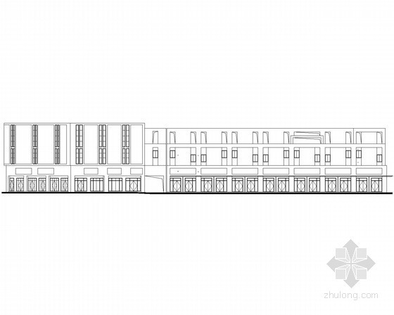 [宜昌]某商贸物流中心二层沿街商铺建筑施工图(5号楼)