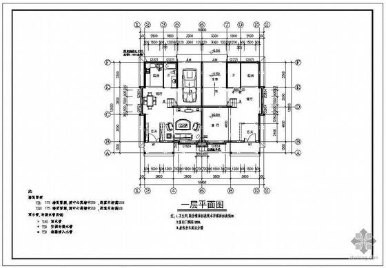 某二层带阁楼双拼别墅建筑施工图-2