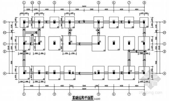 [南通]某三层框架结构办公楼施工图