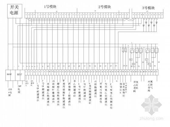 [浙江]化工厂自动化生产线PLC控制接线图
