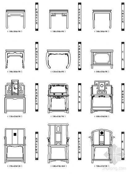常用CAD图例——桌椅类