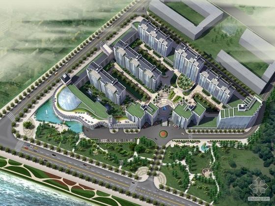 [河南南阳]某现代居住组团规划文本及CAD建筑设计方案(带效果图及PPT)
