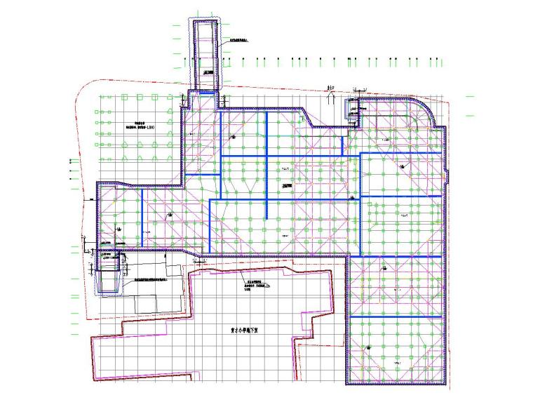 [浙江]高级中学基坑钻孔灌注桩结合内支撑支护施工图
