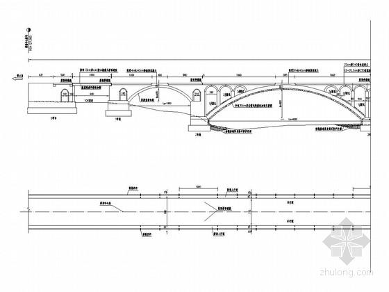 实腹式空腹式圬工组合拱桥加固改造施工图(21张 附加固方案)