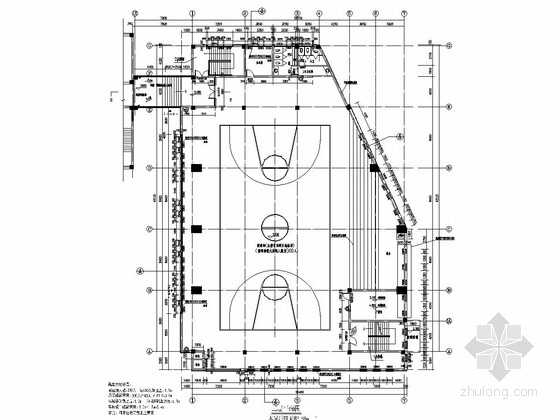 [浙江]主体两层框架结构小学风雨操场结构施工图(含建筑图)
