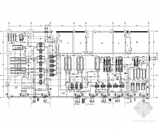 [内蒙古]五星级酒店空调采暖通风防排烟系统设计施工图(系统图全面 机房图多)