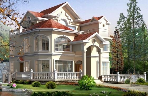 三层框架结构别墅结构施工图(含建筑图)