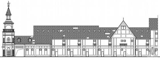 某英式风格商业建筑方案图带效果图
