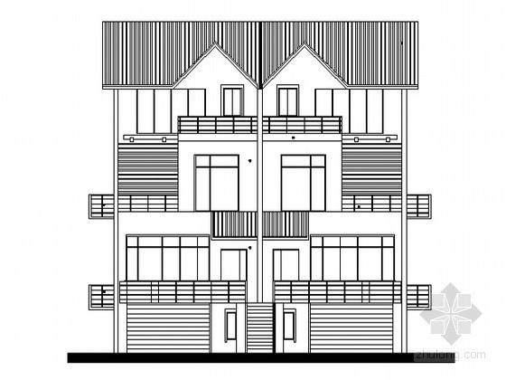 某townhouse住宅单体设计方案六