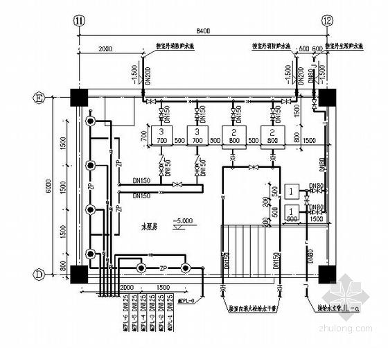 高层地下室水泵房设计图