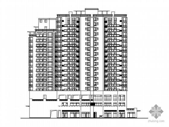 [深圳南山区]某十八层底商、顶层复式高层住宅楼建筑施工图