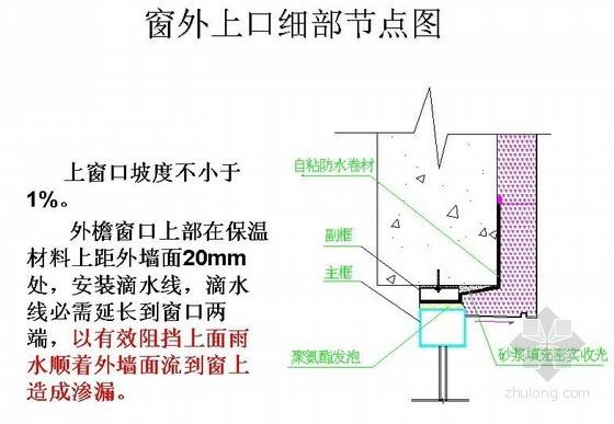 外檐窗口渗漏防治措施培训讲义(节点详图)