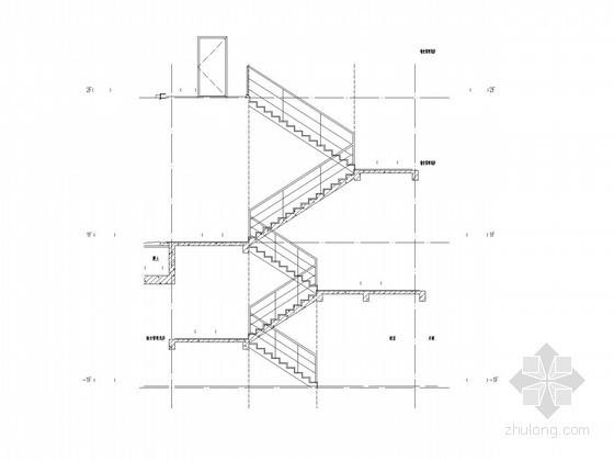 [广州]多层办公楼裙楼扶梯大样图