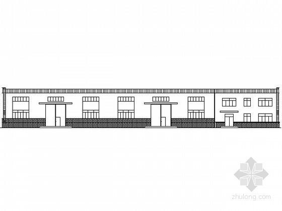 某带辅房的钢结构厂房建筑施工图