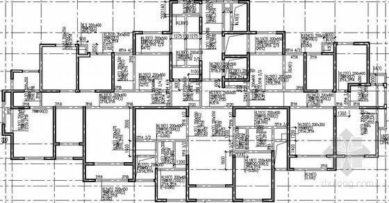 [河南]26层剪力墙底商住宅楼结构施工图