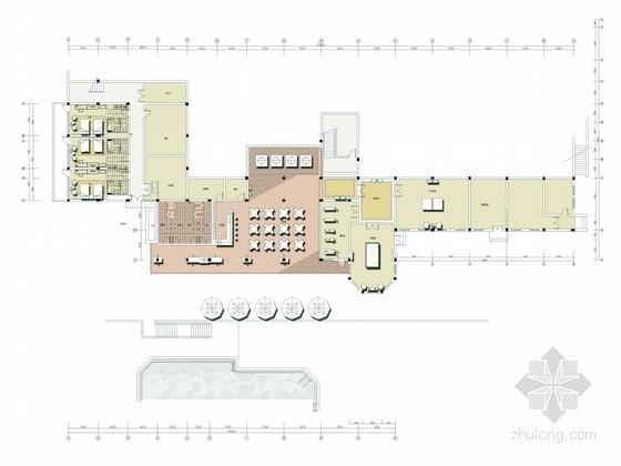 [深圳]休闲度假山庄独具特色田园三层别墅设计方案图