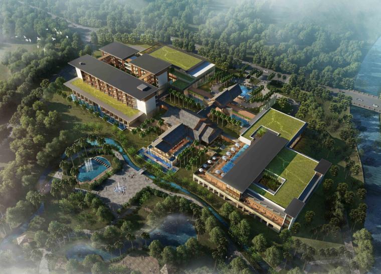 [广东]多层东南亚风格高端度假酒店建筑方案设计文本