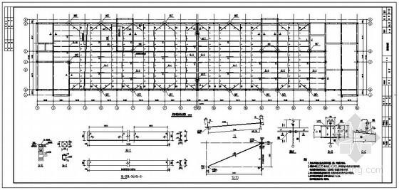 某混凝土柱钢屋面节点构造详图