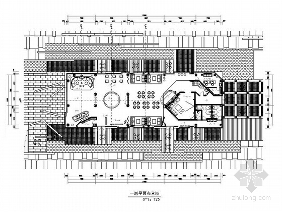 [重庆]现代二层售楼处室内装修图(含效果)