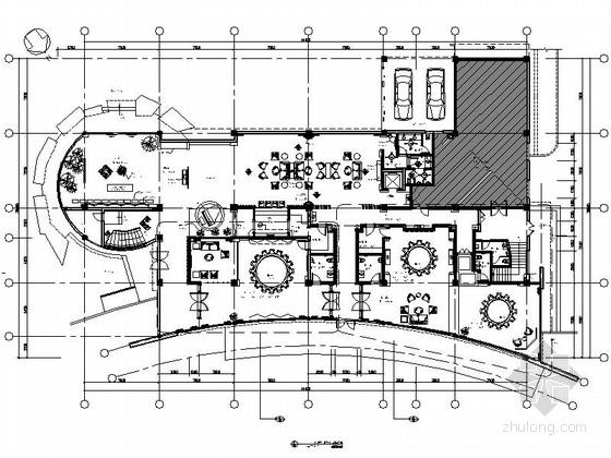[成都]三层现代风格会所室内设计施工图