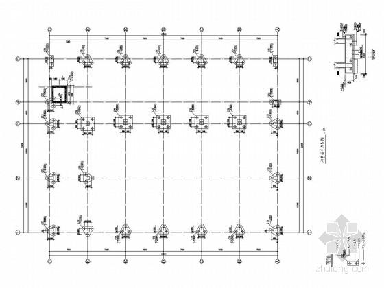 [广州]五层框架结构体育馆结构施工图