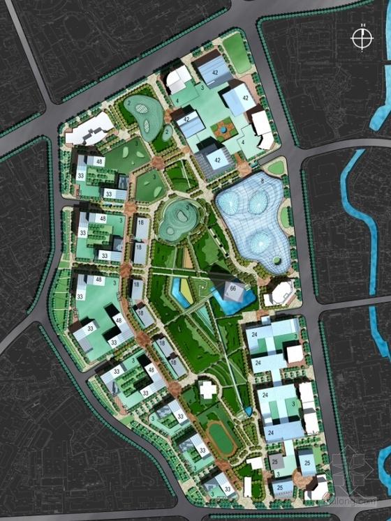 [贵州]绿色生态可持续性城市规划设计方案文本(国际知名设计院)-绿色生态可持续性城市规划设计总平面图