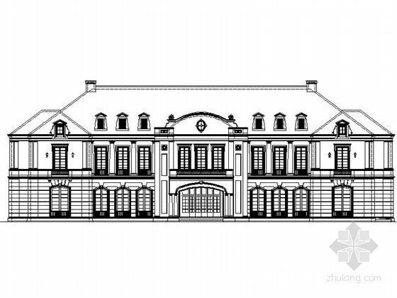 某二层法式会所建筑施工图