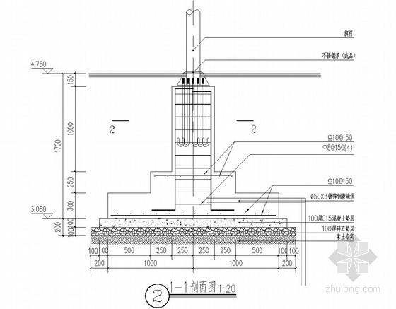 旗台基础结构详图