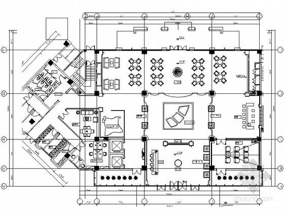 [上海]市级行政区高档简欧风格售楼处CAD装修施工图(含全套方案)
