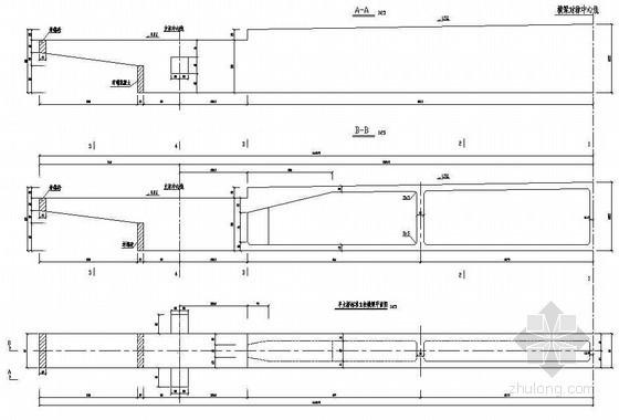 380m中承式系杆拱桥主桥标准立柱横梁一般构造节点详图设计