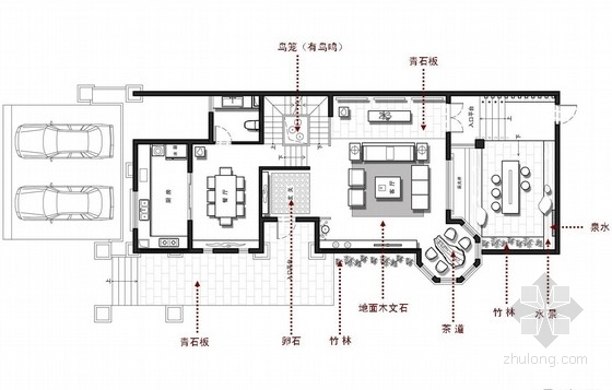[江苏]现代东方风格三层别墅设计方案图