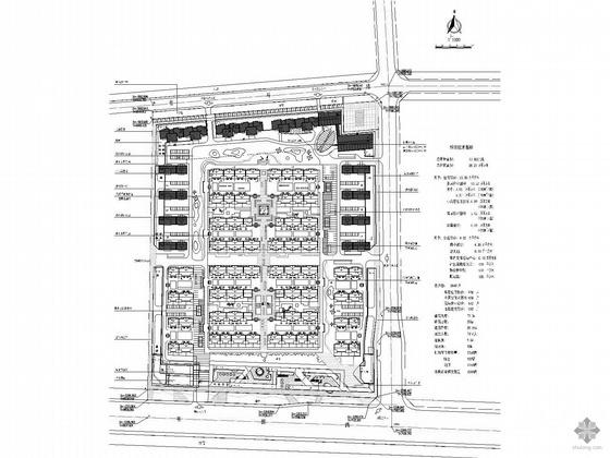 某住宅小区规划方案设计图(含CAD分析图和人防规划明细)