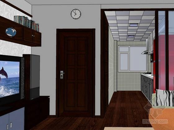 单身公寓sketchup模型下载