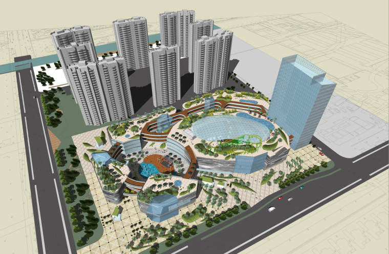 [上海]现代购物中心商住综合体概念规划方案文本(PPT)