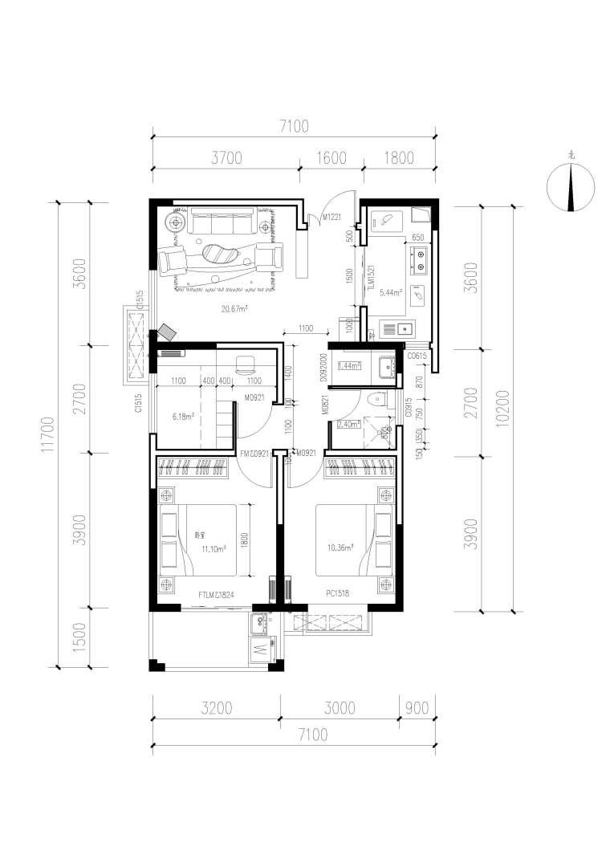 90平三室一厅一卫,谁有办法在后期装修加一个餐厅