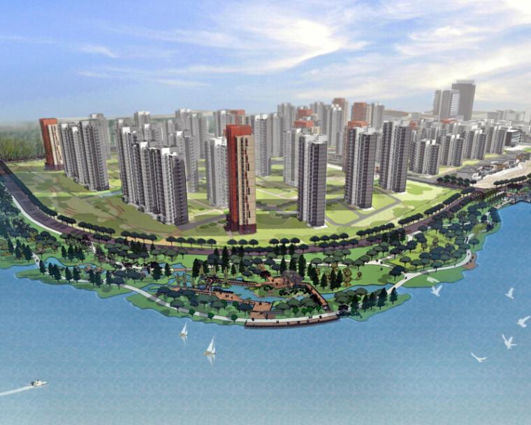 [江苏]汾湖洋砂荡滨水公园景观设计方案