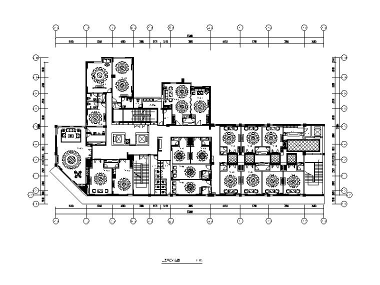 [湖南]海鲜楼设计CAD施工图(含效果图)