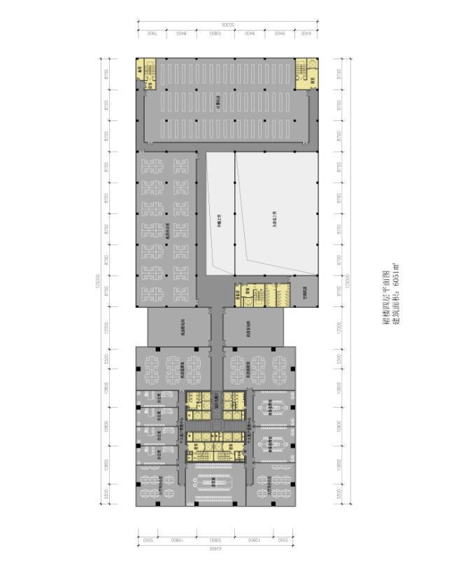 3套高层幕墙立面知名办公大厦建筑平面图