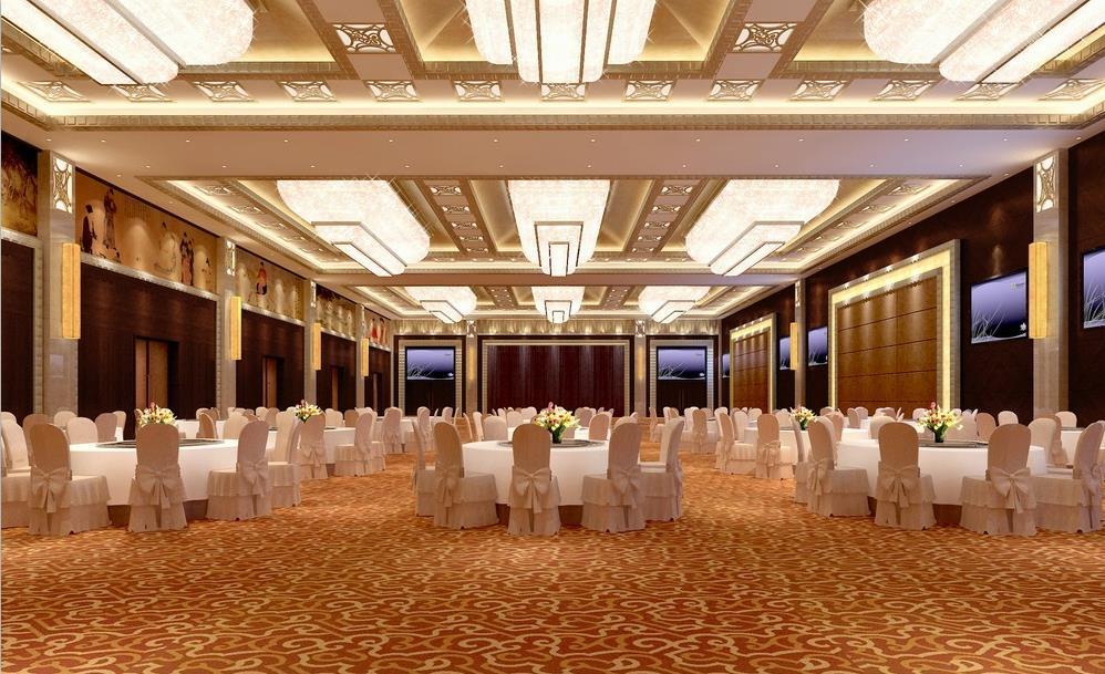 [施工图][攀枝花]新中式别致酒店宴会厅设计施工图(含效果图)图片